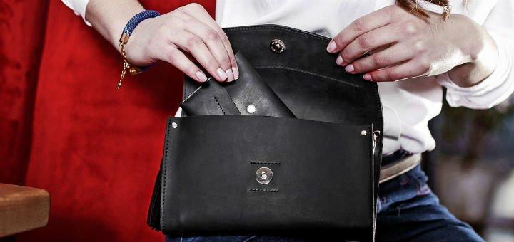 9881829ed101 Напоясные сумки и клатчи в интернет-магазине «BlankNote» в Киеве. Покупайте  кожаные сумки по акции.
