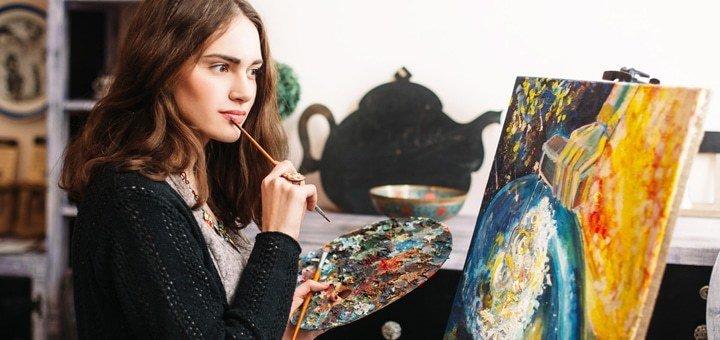4, 8 или 12 уроков живописи в студии «LOVE-ART»