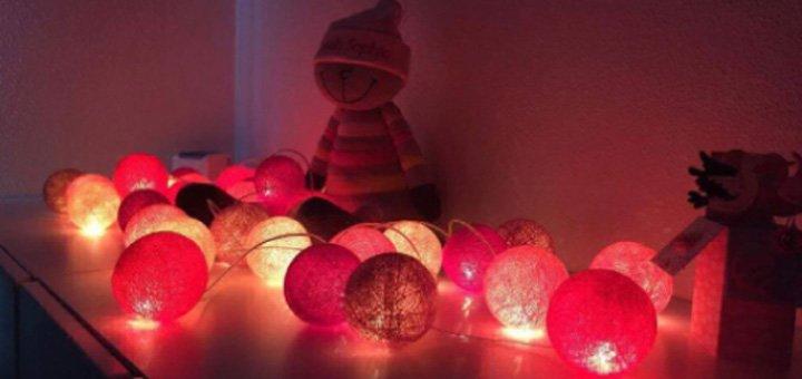 Скидка 10% на все оригинальные хлопковые гирлянды «Cotton Ball Lights»