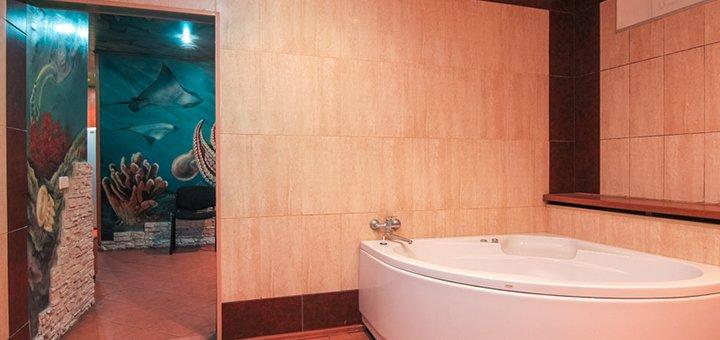 До 3 часов посещения сауны «Посейдон» с джакузи или бассейном