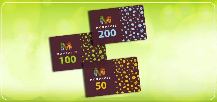 Скидка 10% на подарочные сертификаты от магазина «MONPACIE»