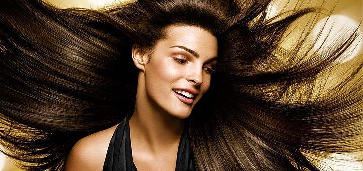 Кератирование (бразильское выравнивание) волос любой длины в салоне красоты «Hollywoоd»! От 415 грн.
