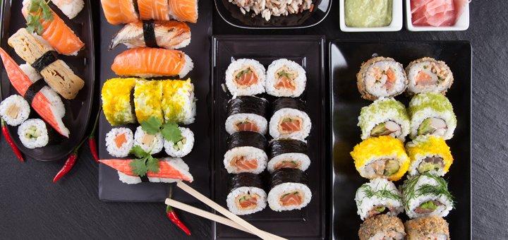 Скидка 50% на все меню суши от службы доставки «Сакура»