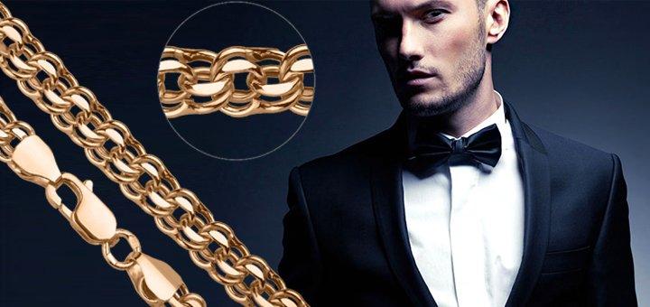 Скидка 12% на коллекцию мужских золотых цепочек