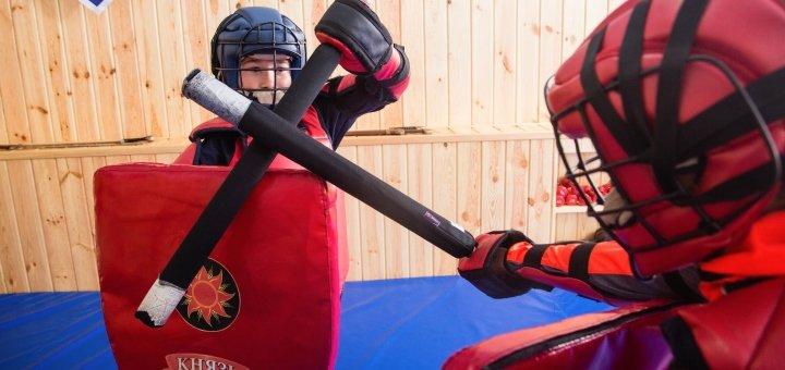 До 2 месяцев посещения тренировок по полноконтактным боям в доспехах для детей в клубе «Князь»