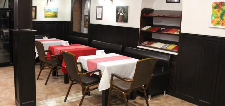 Скидка 50% на всё меню кухни, чайную и кофейную карту в кафе-баре «Дженнет»
