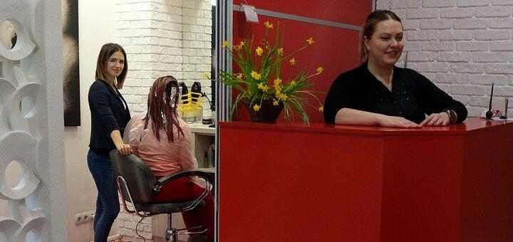 Калифорнийское мелирование волос 4 длины «Matrix» в салоне красоты «Fen-x»