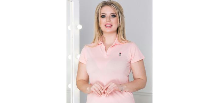 Скидка на женскую футболку поло 15%
