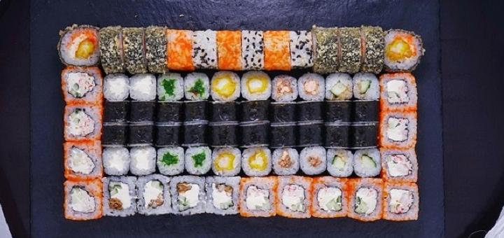 Скидка 50% на суши-сеты до 2 кг от службы доставки «Рыбарис»