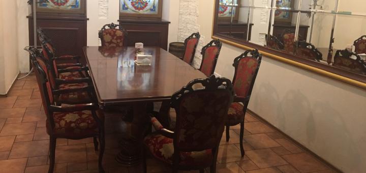 Скидка 50% на всё меню кухни в грузинском ресторане «Хинкальня» на Яворницкого