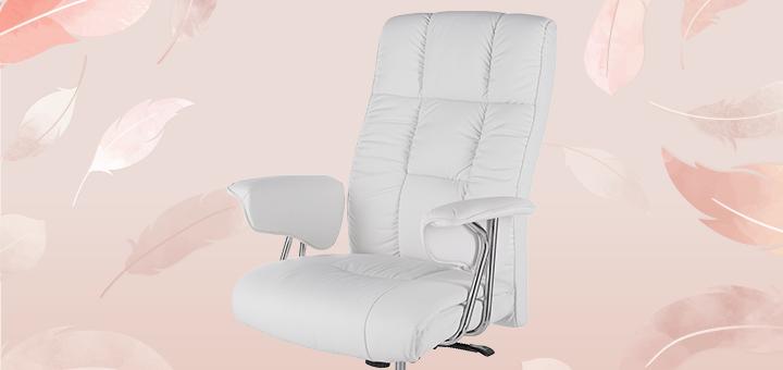 Скидка 15% на белоснежное офисное кресло от компании GT Racer