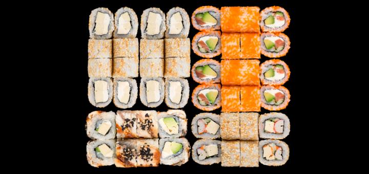 Скидка 40% на суши-сеты с доставкой и самовыносом в ресторане «Япона Хата»