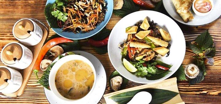Вегетарианский сет для двоих в ресторане аутентичной вьетнамской кухни «Viet Bar»