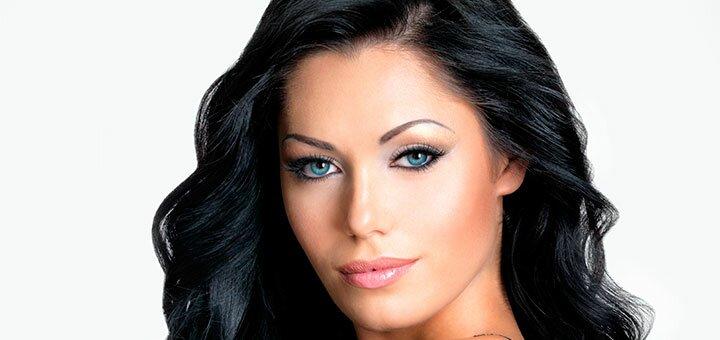 Элегантная укладка волос и дневной или вечерний макияж от Евгении Колун