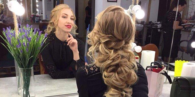 Профессиональный праздничный или вечерний макияж с укладкой волос от визажиста Эльвины Гафаровой