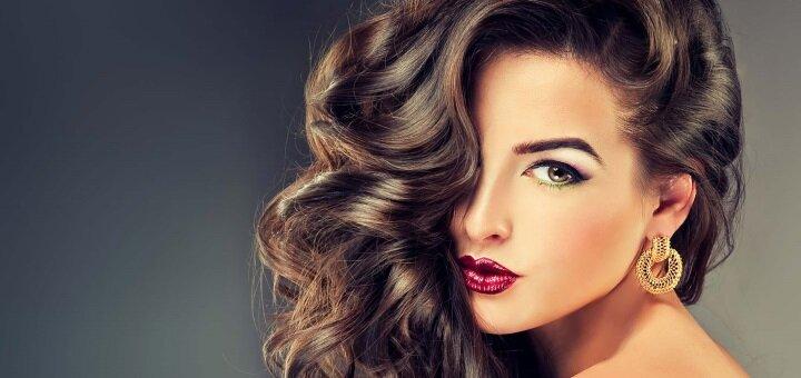 Окрашивание и мелирование волос с укладкой в студии красоты «Elegance Beauty»