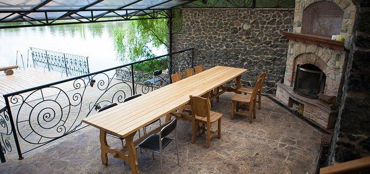 Рыбалка для одного или компании до 6 человек с арендой беседки и мангала в комплексе «Рыбное место» под Киевом!